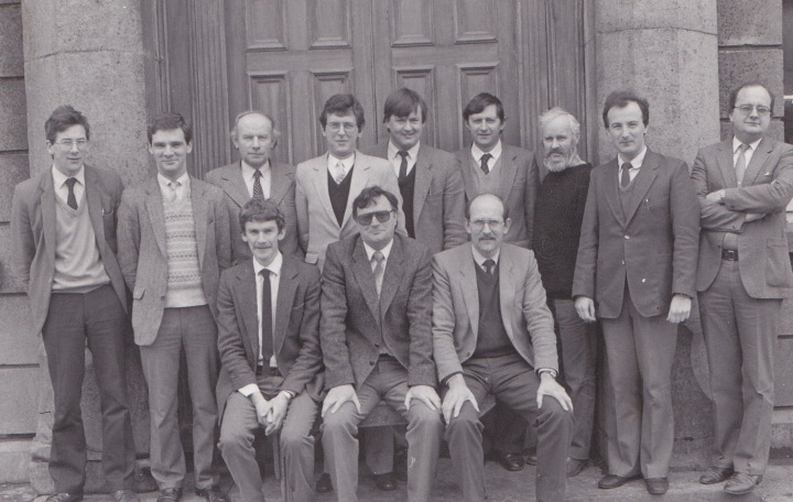 St. Ita's Secondary School Staff 1986.  Missing from the photograph is the then Deputy Principal, Donncha Ó Murchú.  The appearance of this staff photo, taken in 1986, in Facebook earlier this year provoked a virtual avalanche of nostalgia and all the memories and nicknames resurfaced once again like recurring cold sores!