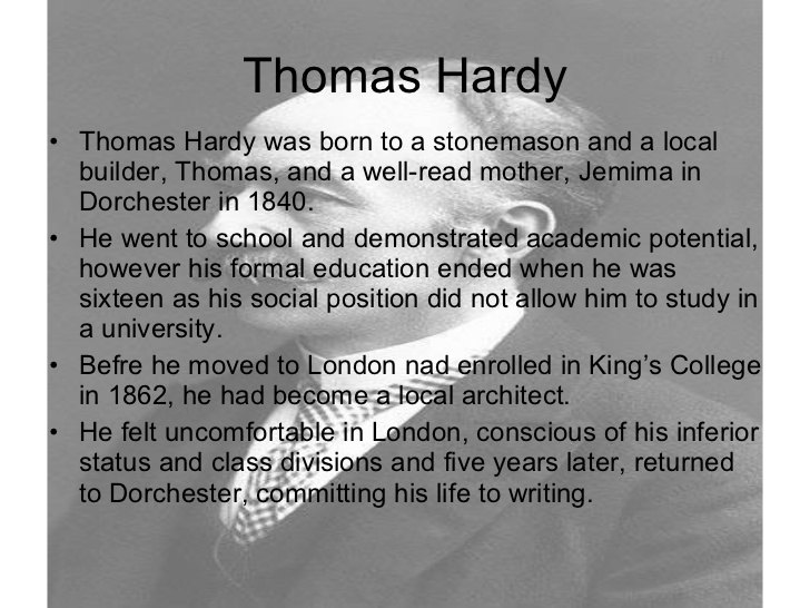An Analysis of the Poetry of Thomas Hardy (1840 - 1928) (4/4)