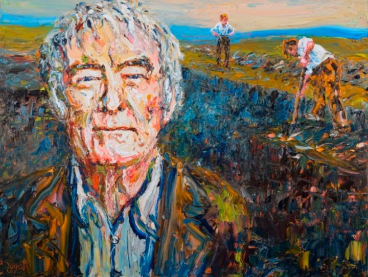 """Seamus Heaney in Toner's Bog"" by Liam O'Neill"