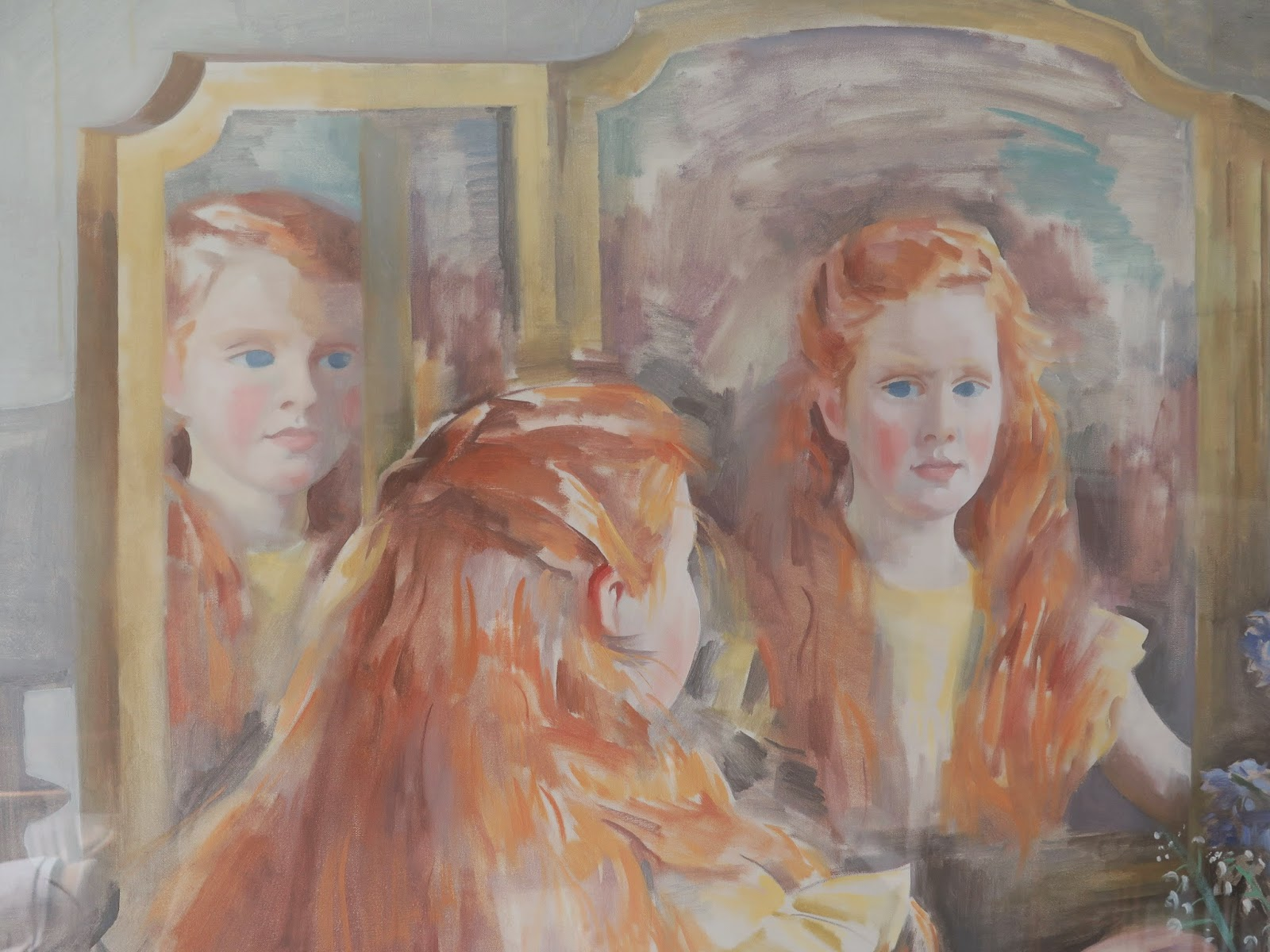 Portrait of Eavan Boland as a child by her mother, the painter Frances Kelly