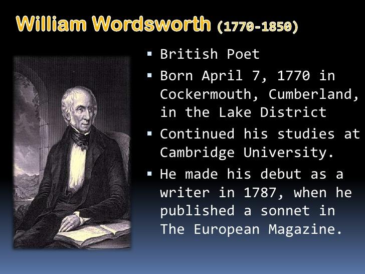 William wordsworth contribution to literature