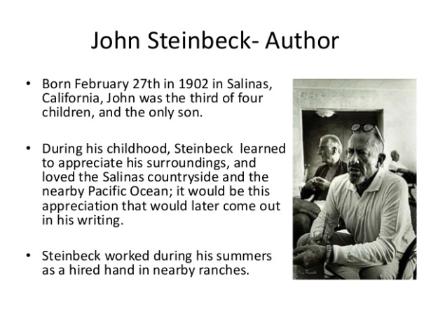 how does steinbeck present slim