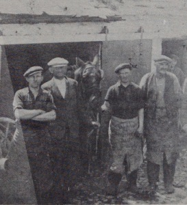 John Kelly in his forge in Maiden Street