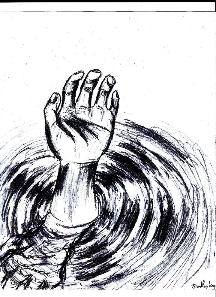 hand-coming-out-of-water-drawing