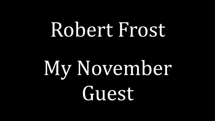 My November Guest (2)